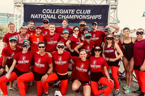 Stanford Triathlon Team at Collegiate National Championships