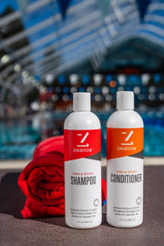 Zealios Swim & Sport Shampoo and Conditioner sulfate free and safe for treated hair