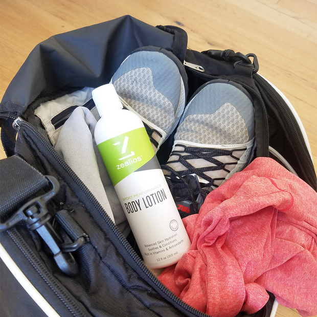 Zealios Body Lotion great to toss in your gym bag