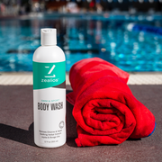 Zealios Swim & Sport Body Wash to safely remove chlorine