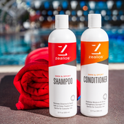 Zealios Swim & Sport Conditioner to restore hair health for swimmers