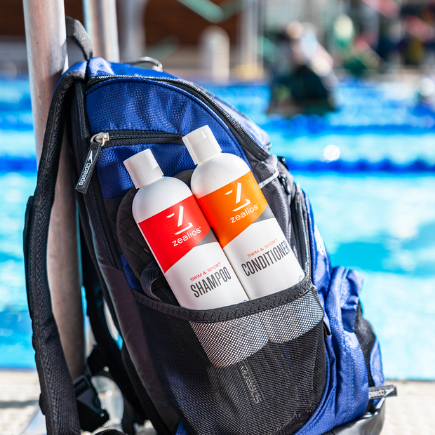 Zealios Swim & Sport Shampoo great for swimmers and chlorine removal