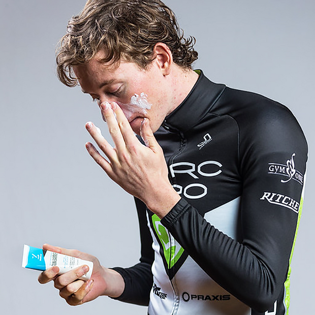 Zealios Sun Barrier zinc sunscreen for athletes