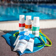 Zealios Travel Pack to remove chlorine with Shampoo, Conditioner, Body Wash and Sun Barrier zinc sunscreen