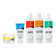 Zealios Full Product Bundle Kit - Anti Chafe Cream, Sunscreen, Shampoo, Conditioner, Body Wash