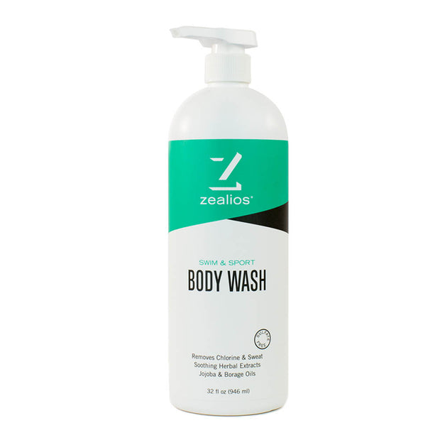 Zealios Swim & Sport Body Wash 32 oz with convenient pump