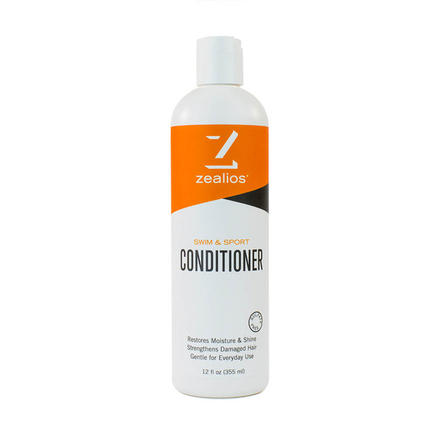 Zealios Swim & Sport Conditioner to moisturize and repair damaged hair