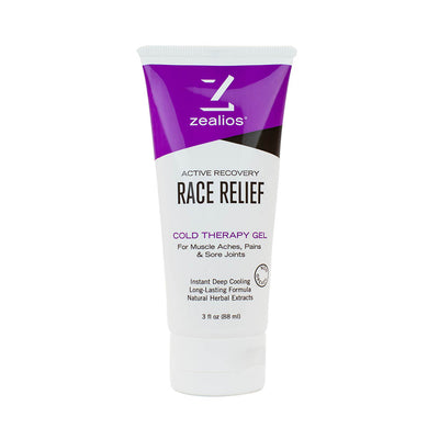 Zealios Race Relief, cold therapy muscle recovery gel