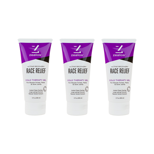 Zealios Race Relief Cold Therapy Muscle Gel - 3 oz.