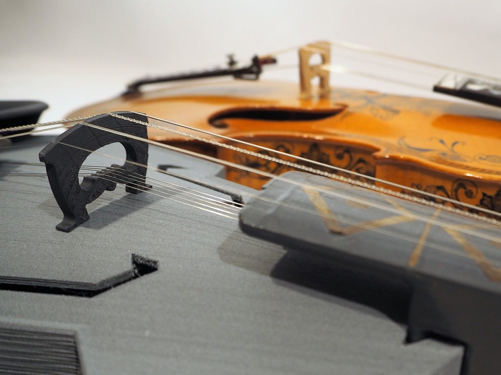 Hardanger Fiddle uses HTPLA-CF for Stiffness and Style