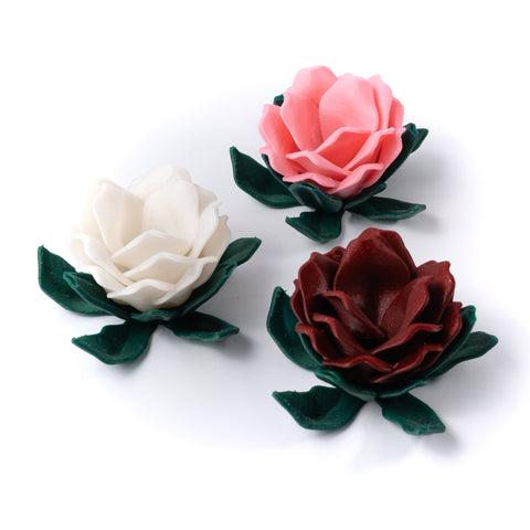 photo of pink white red 3d printed roses