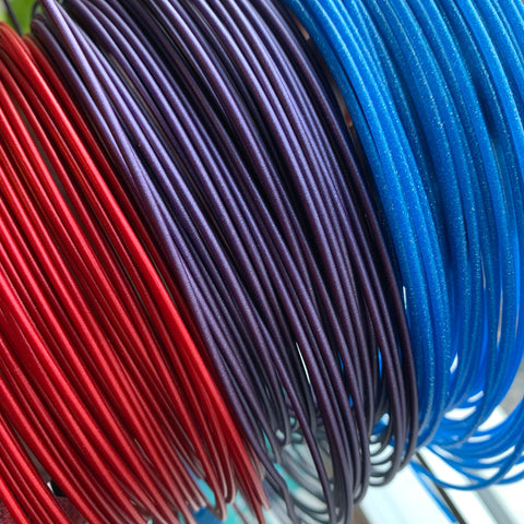 red purple blue 3d printer filaments