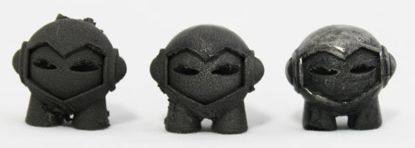 3D printed Marvin in Stainless Steel PLA