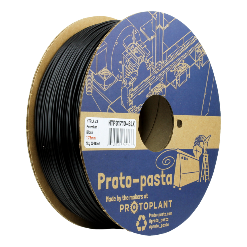Black Opaque HTPLA Filament spool