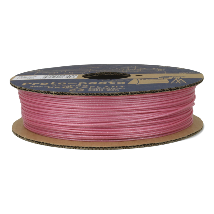 Cupid's Crush Metallic Pink HTPLA filament spool