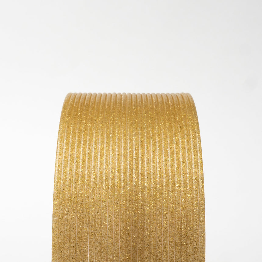 Gold Dust Translucent HTPLA with Gold Glitter Filament Spool