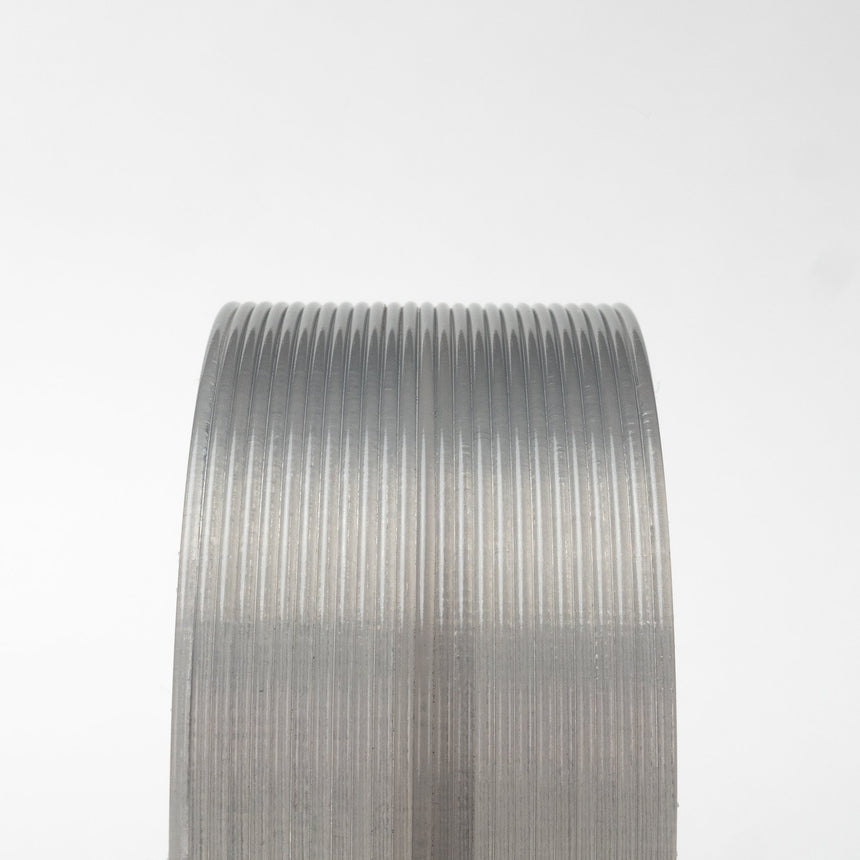Silver Smoke Grey Translucent HTPLA Filament Spool