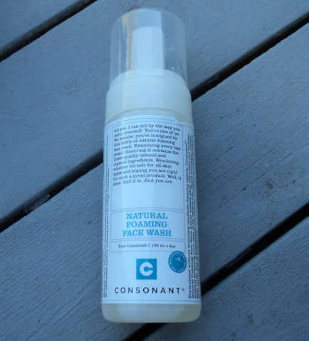 consonant foaming face wash