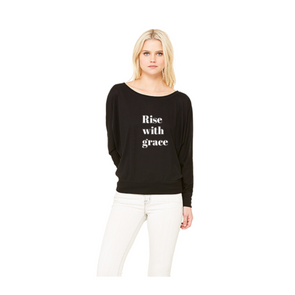 Rise with grace long sleeve off the shoulder top