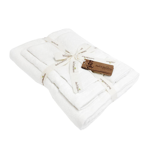 Bed and Bamboo White Towel Set