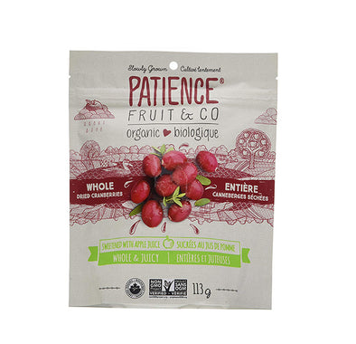 Patience Fruit & Co Organic Whole and Juicy Dried Cranberries