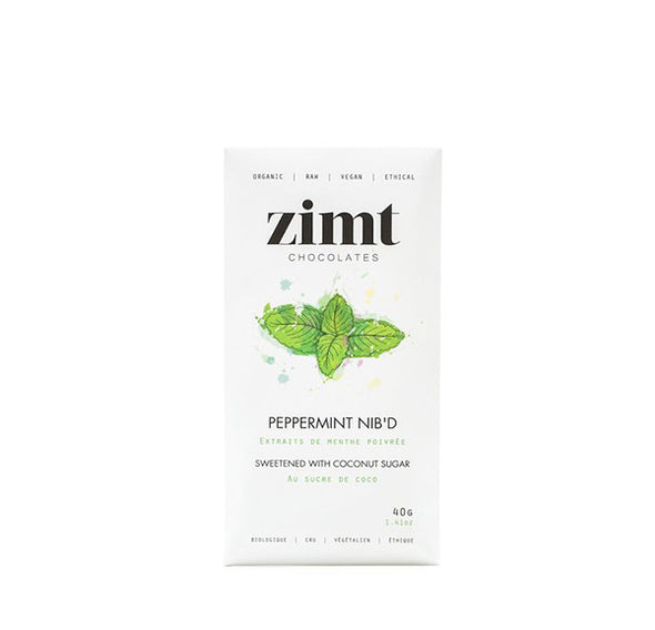 Zimt Peppermint Nib'd Raw Chocolate Bar