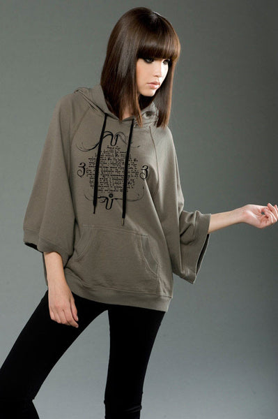 Made in USA, Hoodie/ puncho printed with Armenian prayers by Anet's Collection