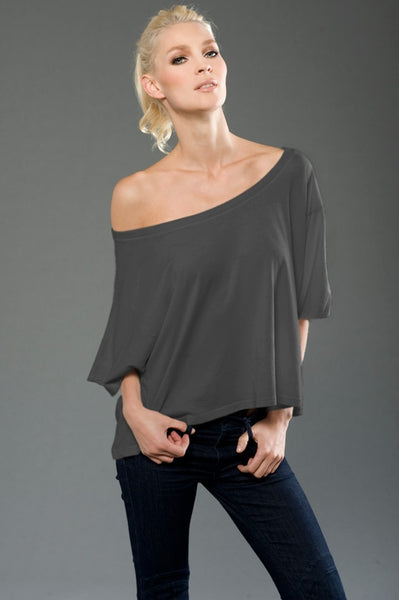 Made in USA, High quality cotton , one shoulder top by Anet's Collection