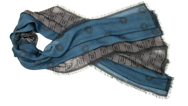 Eternity Blue Unisex Scarf - Anet's Collection - 1