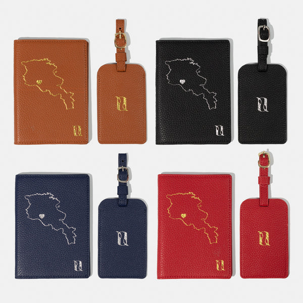 Love Armenia Passport Holder & Luggage Tag Travel gift Set