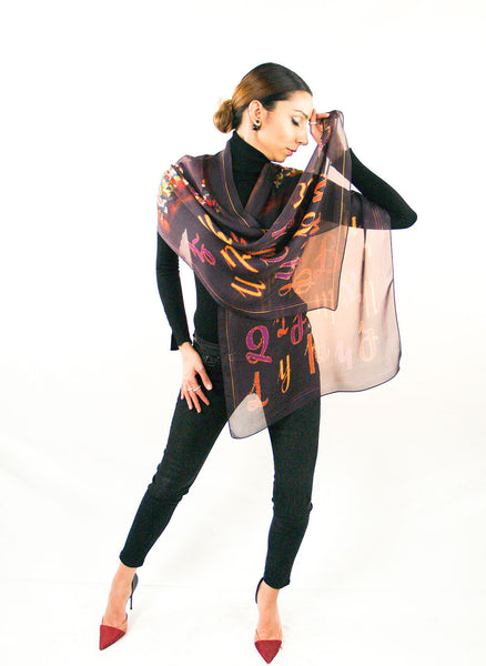 Armenian Alphabet Scarf #1 - Anet's Collection - 3