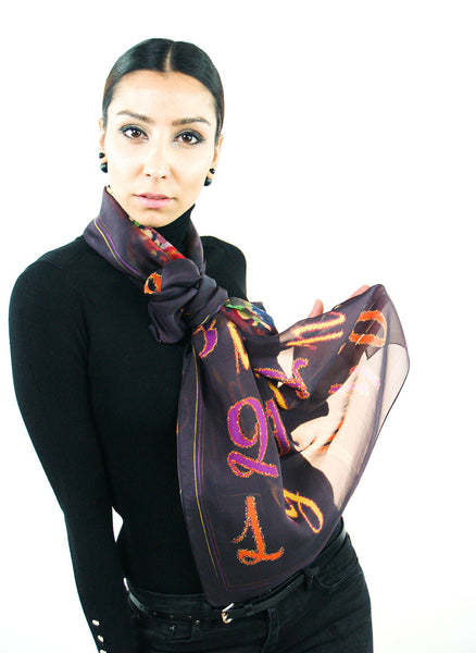 Armenian Alphabet Scarf #1 - Anet's Collection - 5