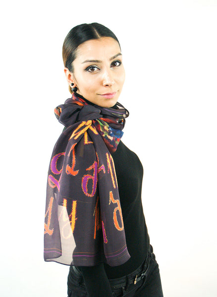 Armenian Alphabet Scarf #1 - Anet's Collection - 6