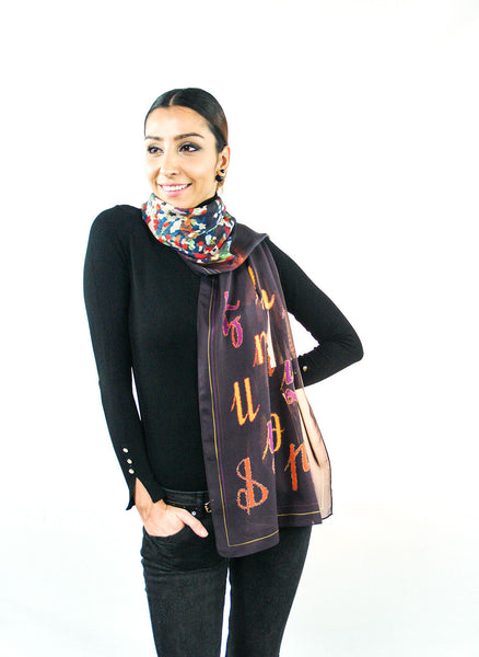 Armenian Alphabet Scarf #1 - Anet's Collection - 8
