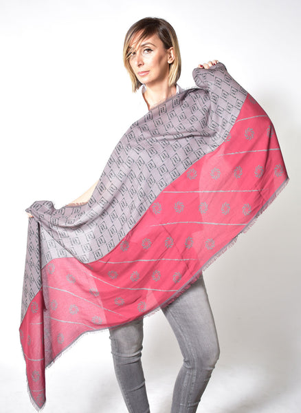 Eternity Burgundy Unisex Scarf - Anet's Collection - 4