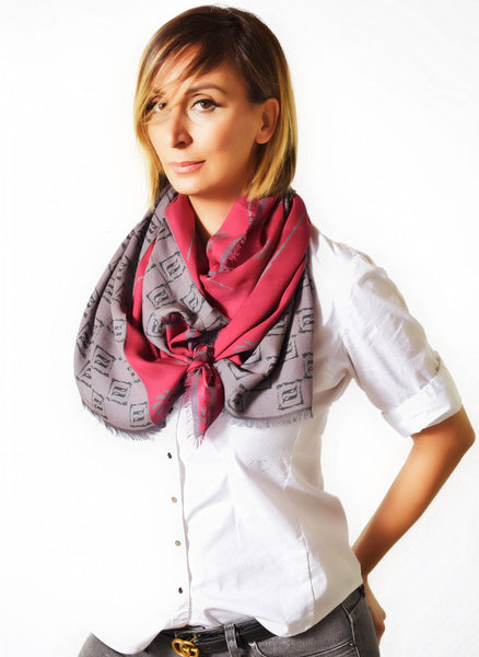 Eternity Burgundy Unisex Scarf - Anet's Collection - 2