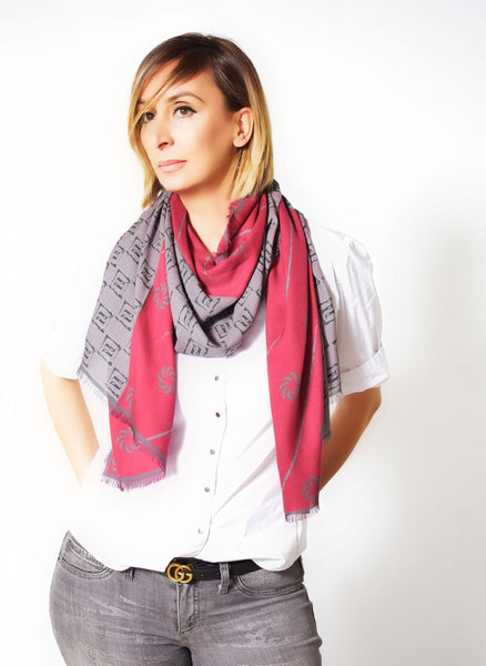 Eternity Burgundy Unisex Scarf - Anet's Collection - 1