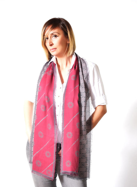 Eternity Burgundy Unisex Scarf - Anet's Collection - 5