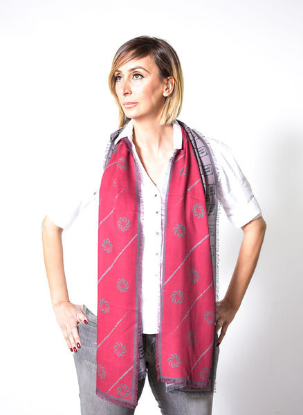 Eternity Burgundy Unisex Scarf - Anet's Collection - 6