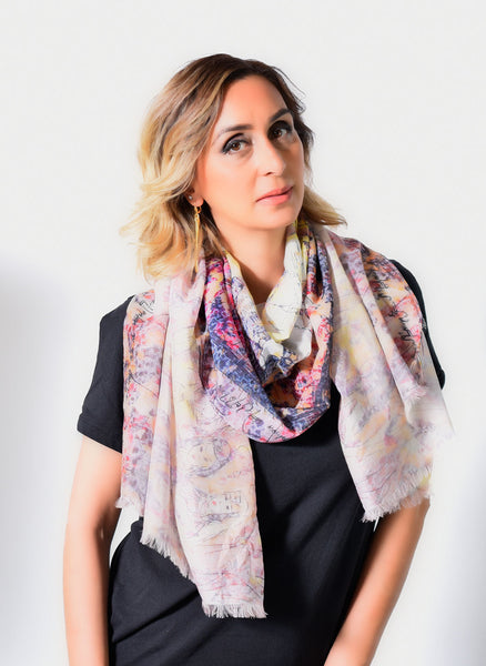 Anoush Cotton Silk Scarf