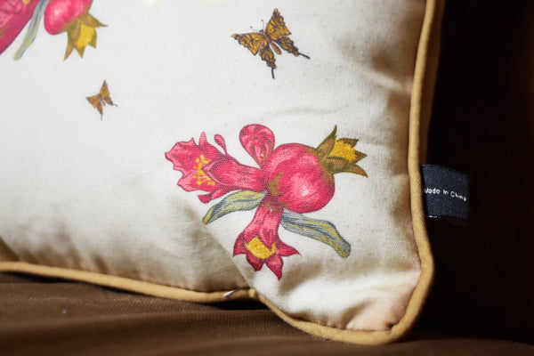 Pomegranate and Bird Pillow Case