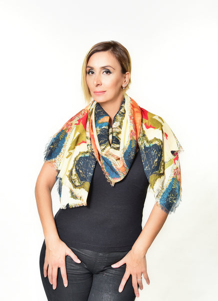 """The Lady in Peridome"" Scarf"