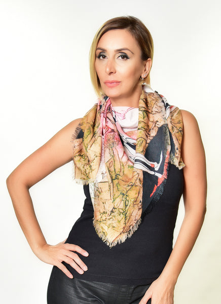 Pink Nude Square Scarf