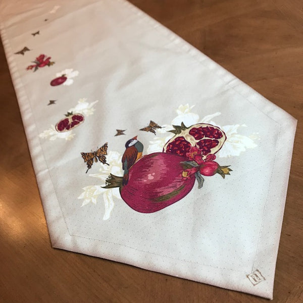Pomegranate and Bird Table Runner