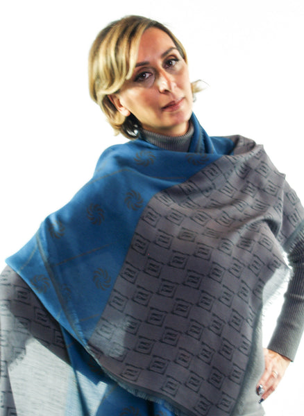Eternity Blue Unisex Scarf - Anet's Collection - 4