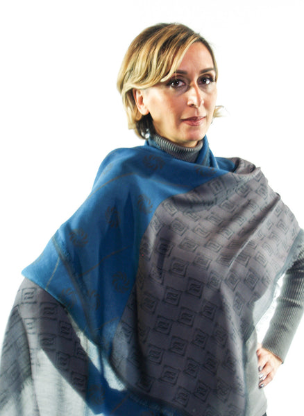 Eternity Blue Unisex Scarf - Anet's Collection - 6