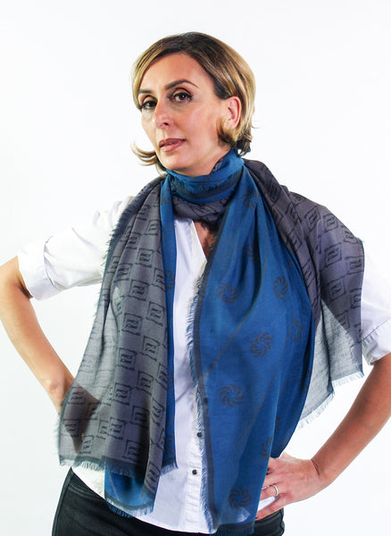 Eternity Blue Unisex Scarf - Anet's Collection - 5