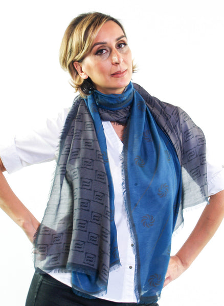 Eternity Blue Unisex Scarf - Anet's Collection - 2