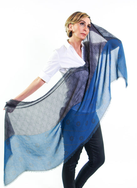 Eternity Blue Unisex Scarf - Anet's Collection - 3