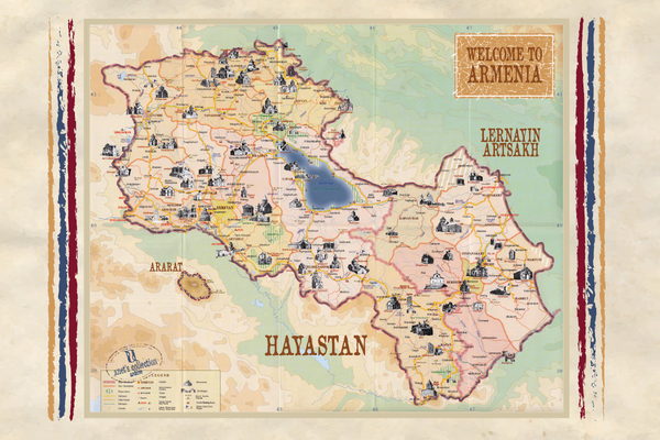Journey to Armenia Throw/ Blanket